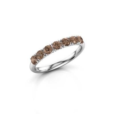 Foto van Ring Vivienne Half 950 platina bruine diamant 0.665 crt