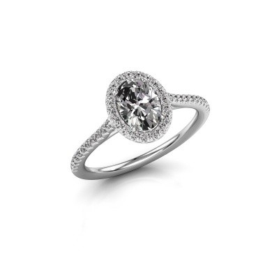 Engagement ring Seline 2 925 silver diamond 1.081 crt
