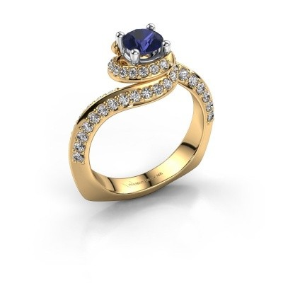 Verlovingsring Sienna 585 goud saffier 5 mm