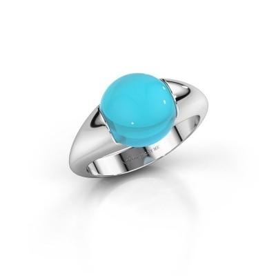 Foto van Ring Robine 950 platina blauw topaas 10 mm