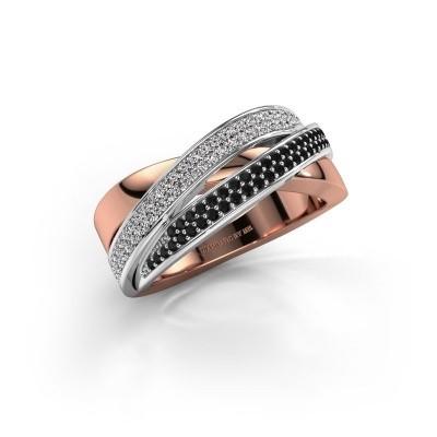 Foto van Ring Myra 585 rosé goud zwarte diamant 0.549 crt