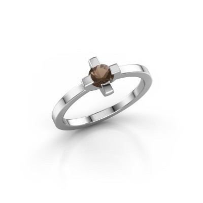 Ring Therese 950 platinum smokey quartz 4.2 mm