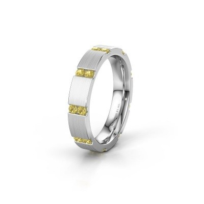 Weddings ring WH2132L14BM 950 platinum yellow sapphire ±4x2.2 mm