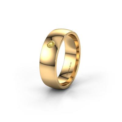 Foto van Trouwring WH0101L26AP 375 goud gele saffier ±6x1.4 mm