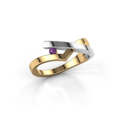 Ring Pamella 585 gold amethyst 2.2 mm