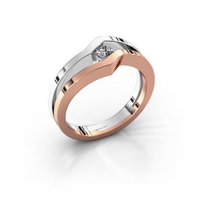 Ring Elize 585 rose gold lab-grown diamond 0.15 crt