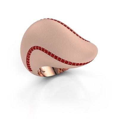 Foto van Ring Phyliss 375 rosé goud robijn 1 mm