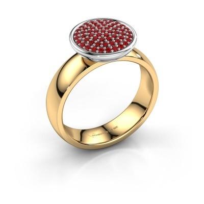 Foto van Ring Tilda 585 goud robijn 1 mm