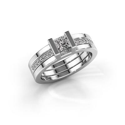 Foto van Ring Desire 925 zilver zirkonia 4 mm