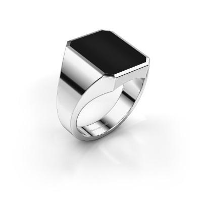 Picture of Signet ring Lars 4 950 platinum onyx 15x12 mm