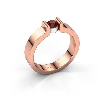 Verlovingsring Isabel 1 585 rosé goud granaat 4 mm