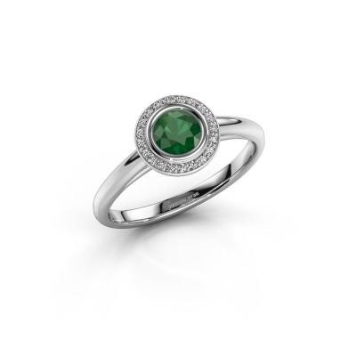 Promise ring Noud 1 RND 925 zilver smaragd 4.7 mm