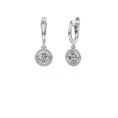 Picture of Drop earrings Noud RND 950 platinum diamond 1.20 crt