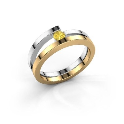 Ring Sandy 585 goud gele saffier 3.4 mm