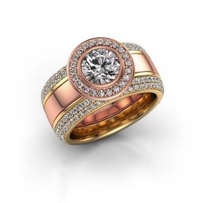 Foto van Ring Roxie 585 rosé goud zirkonia 6.5 mm