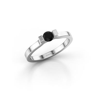 Foto van Verlovingsring Jodee 585 witgoud zwarte diamant 0.60 crt
