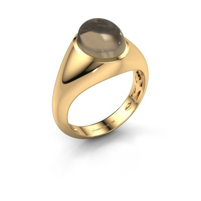 Ring Zaza 375 gold smokey quartz 10x8 mm