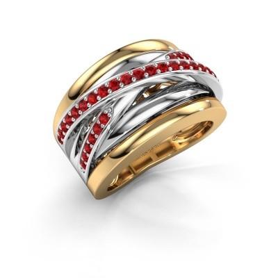 Foto van Ring Clair 3 585 goud robijn 1.5 mm