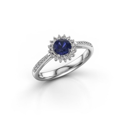 Picture of Engagement ring Mariska 2 585 white gold sapphire 5 mm