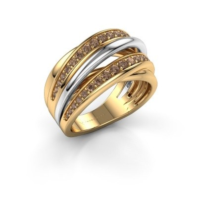 Ring Marylouise 2 585 gold brown diamond 0.618 crt