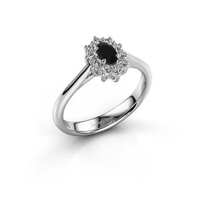 Foto van Verlovingsring Leesa 1 950 platina zwarte diamant 0.42 crt