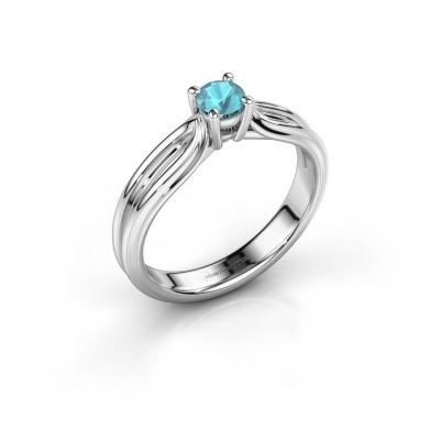 Engagement ring Antonia 1 585 white gold blue topaz 4 mm