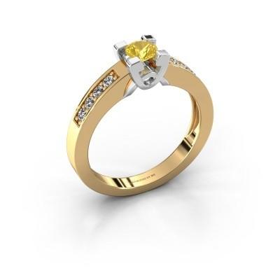 Verlovingsring Nina 2 585 goud gele saffier 4.2 mm