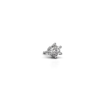 Photo de Boucle d'oreille homme Dominic 585 or blanc diamant 0.25 crt