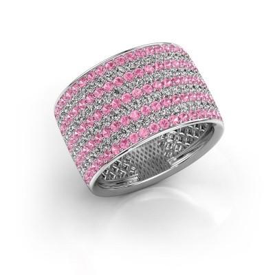 Foto van Ring Macy 585 witgoud roze saffier 1.4 mm