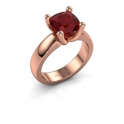 Ring Clelia CUS 585 rosé goud robijn 8 mm