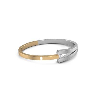 Slavenarmband Sofia 585 goud diamant 0.50 crt