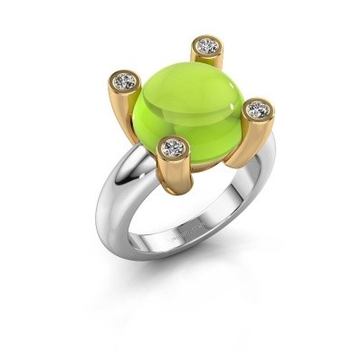 Picture of Ring Janice RND 585 white gold peridot 12 mm