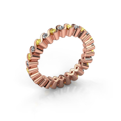 Stackable ring Faye 585 rose gold yellow sapphire 2 mm