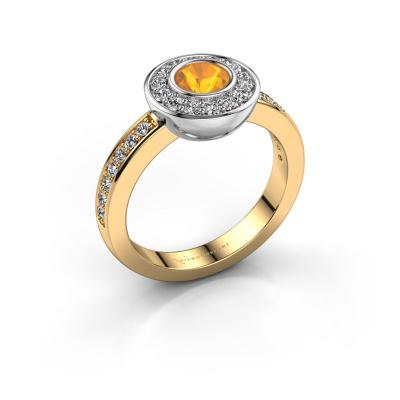 Ring Ivy 585 Gold Citrin 5 mm