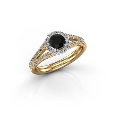Verlovingsring Verla 2 585 goud zwarte diamant 0.825 crt