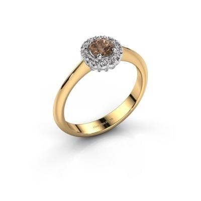 Verlovingsring Anca 585 goud bruine diamant 0.30 crt