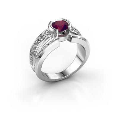 Foto van Heren ring Rowan 925 zilver rhodoliet 6.5 mm