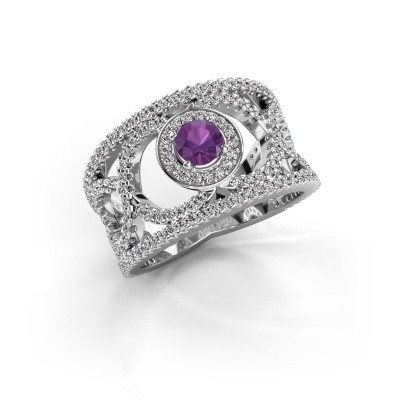 Picture of Ring Regina 585 white gold amethyst 4.2 mm