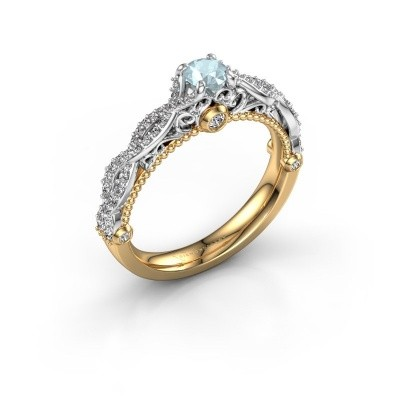 Picture of Engagement ring Chantelle 585 gold aquamarine 4 mm