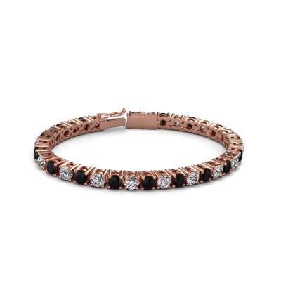 Picture of Tennis bracelet Karin 5 mm 375 rose gold black diamond 18.70 crt