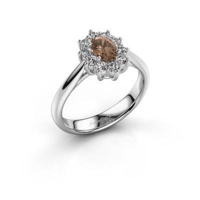 Foto van Verlovingsring Leesa 1 925 zilver bruine diamant 0.50 crt