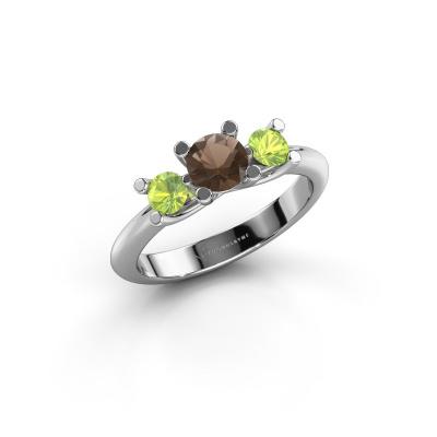 Ring Mirthe 925 silver smokey quartz 5 mm