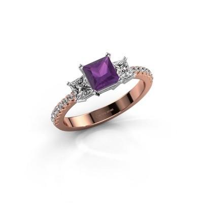 Engagement ring Dorla 585 rose gold amethyst 5 mm