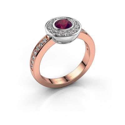 Ring Ivy 585 Roségold Rhodolit 5 mm