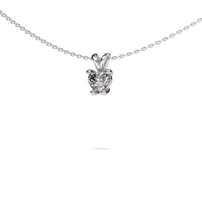 Foto van Ketting Sam Heart 585 witgoud lab-grown diamant 0.50 crt
