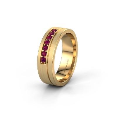 Trouwring WH0312L16AM 585 goud rhodoliet ±6x1.7 mm