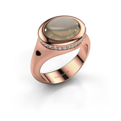 Picture of Ring Lesli ovl 585 rose gold smokey quartz 12x10 mm