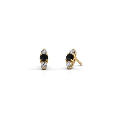 Oorbellen Amie 375 goud zwarte diamant 1.00 crt
