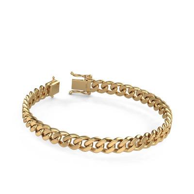 Cuban link armband ±8 mm 585 goud