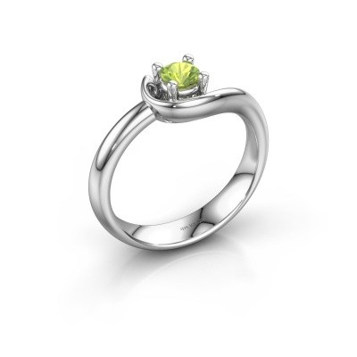Ring Lot 585 Weißgold Peridot 4 mm